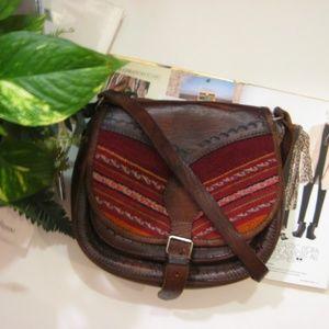 Handbags - Boho Saddle Leather Embossed Crossbody